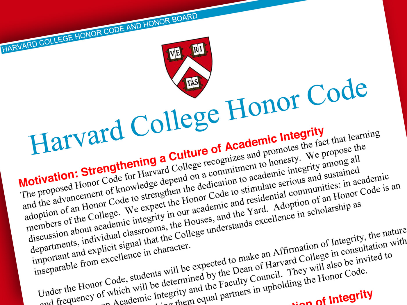 harvard college adopts honor code harvard magazine harvard college s honor code