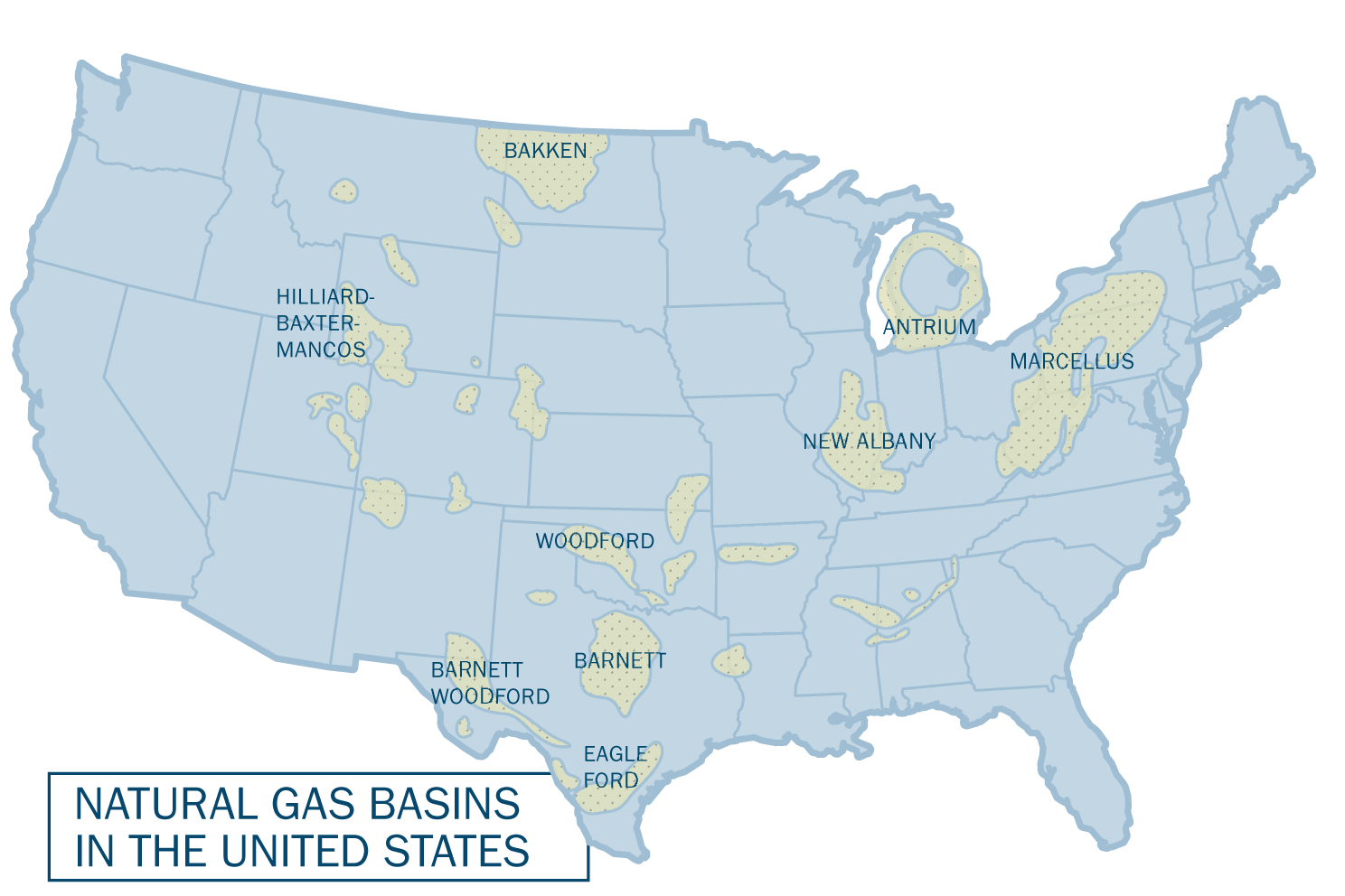 Michael McElroy And Xi Lu On Natural Gas Fracking And US - Map potential natural gas in us