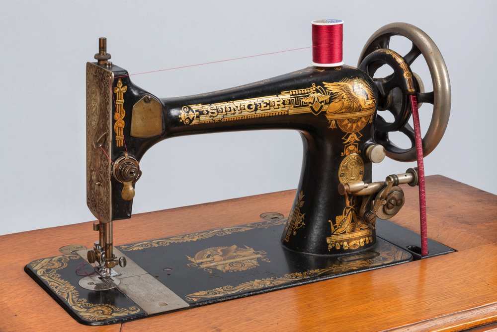 This Singer Sewing Machine Has Many Facets Harvard Magazine Inspiration Antique Sewing Machine Museum