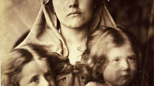 Julia Margaret Cameron, <i>Madonna and Two Children,</i> 1864, albumen print: artistically arranged—but could she control the expressions?