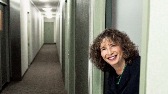 Nancy Rosenblum in her Greenwich Village apartment building