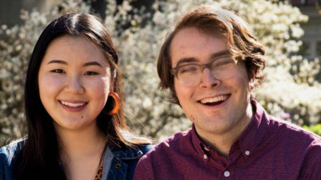 Photograph of Julie Chung and Drew Pendergrass