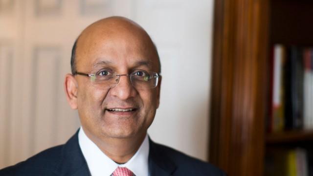A portrait of Harvard Business School dean Nitin Nohria