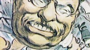 From <i>T.R. in Cartoon: The Art of Joseph Keppler,</i> at Pusey Library