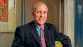 A portrait of John P. (Jack) Reardon Jr. '60 by Everett Raymond Kinstler
