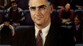 This posthumous 2007 portrait, by Stephen Coit '71, M.B.A. '77, was commissioned by the Harvard Foundation four decades after Monro left Harvard for Miles College.