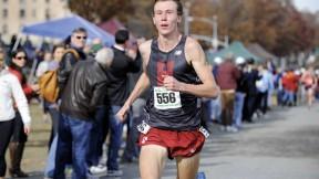 Maksim Korolev running last fall in the NCAA Cross-Country Regionals at Van Cortlandt Park in the Bronx