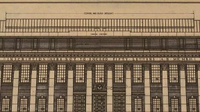 Architectural plan for Widener Library
