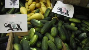 Cukes, summer squash, and plenty of other local produce and homemade goods may be found at the Farmers' Market at Harvard