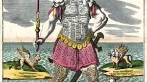 <i>Colossus monarchicus statua Danielis</i>, by Matthaeus Seutter (1730)