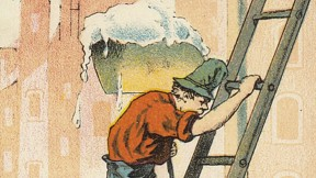 Advertising trade cards from the 1850s to the 1910s depict Irish immigrants' social and economic climb from the laboring classes…