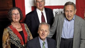 Clockwise from far left: Judith Lasker, Bruce Alberts, Leo Marx, and Keith Christiansen