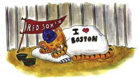 From <i>On the Loose in Boston: A Find-the-Animals Book,</i> by Sage Stossel