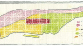 A New Yorker's self-made map of Manhattan: a plot of places visited (or not)