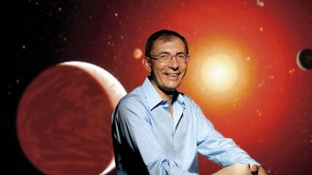 Dimitar Sasselov, director of the Origins of Life Initiative, searches for planets around red dwarf stars. Because they are dimmer and smaller than our sun, red dwarfs make ideal targets for taking images of the extrasolar planets that orbit them.