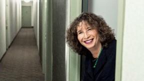 Nancy Rosenblum in her Greenwich Village apartment building