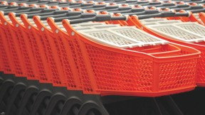 """An abundance of shopping carts, from the Peabody Museum's """"Trash Talk"""" lecture series"""