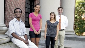 From left: Abiola Laniyonu, Laura Hinton, Meghan Smith, and Matthew Chuchul