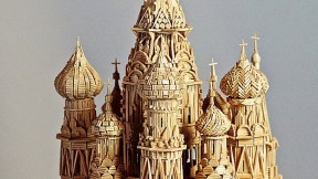"Stan Munro's ""toothpicked"" version of St. Basil's Cathedral, in Moscow"