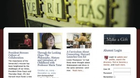"The new <a href=""http://alumni.harvard.edu"">alumni.harvard.edu</a>"