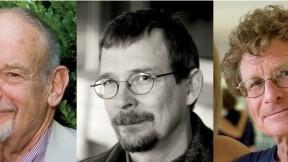 Left to right: John Bethell, Robert Neubecker, and Jim Harrison