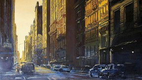 Derek Reist's painting <i>Downtown Gold</i>