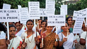 Rallying against rape: a candlelight protest in Mumbai, December 2013