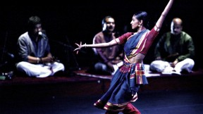 Shantala Shivalingappa performs at Boston's Institute of Contemporary Art in February.