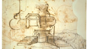 Michelangelo's studies for the vestibule stairs, Casa Buonarroti, Florence.