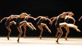 Boston Ballet dancers perform from the <em>Black and White</em> program