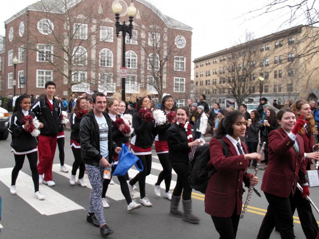 The Harvard University Band provided a parade soundtrack.