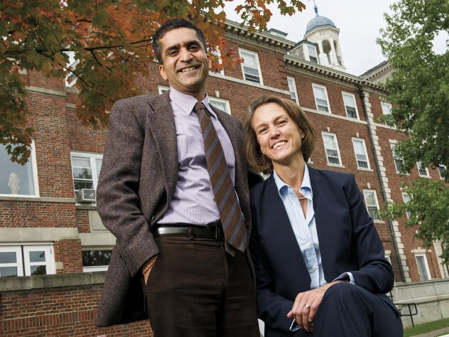 Rakesh and Stephanie Khurana at Cabot House