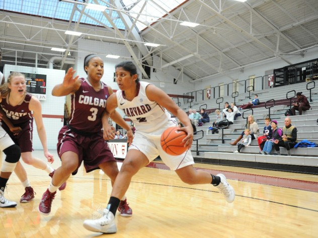 After adjusting to a new position in the post, Shilpa Tummala '16 is shooting 45.5 percent from three-point range.