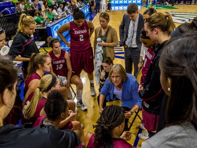 Head coach Kathy Delaney-Smith, in her thirty-fourth season at Harvard, is trying to steer her young team to the program's twelfth Ivy League championship.
