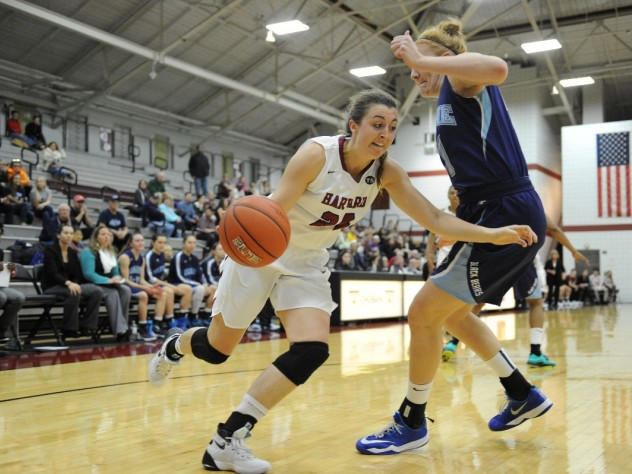 Co-captain AnnMarie Healy '16 is the Crimson's leading scorer, averaging 14.6 points per game.