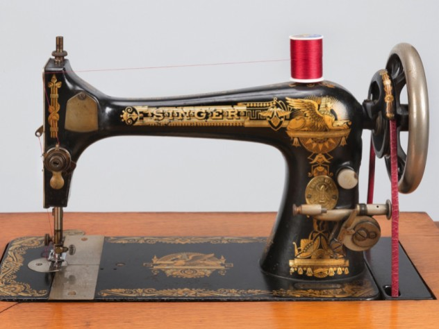 This Singer Sewing Machine Has Many Facets Harvard Magazine Delectable Singer Sewing Machin