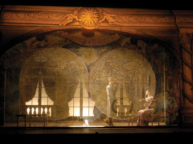 For Molière's <i>The Misanthrope</i> at Berkshire Theatre Festival in Stockbridge, Massachusetts, Sprague's sketch became a model later built as the play's set (shown).