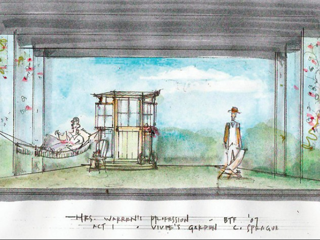 For the Berkshire Theatre Festival's production of <i>Mrs. Warren's Profession,</i> by George Bernard Shaw, Sprague's sketch became an engaging set.