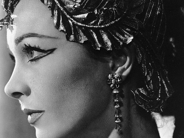 McBean's favorite model—and muse—was Vivien Leigh (1913-1967), here photographed for a 1951 production of  George Bernard Shaw's <i>Caesar and Cleopatra.</i>