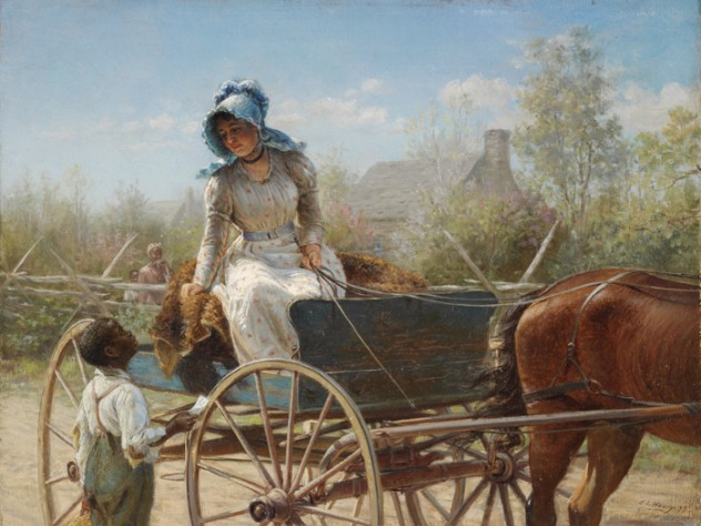 Edward Lamson Henry, <i>The Message,</i> 1893. Oil on board.