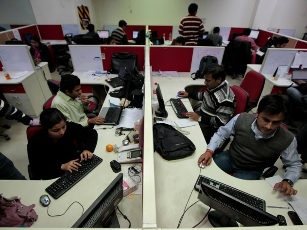 The Aspiring Minds office outside Delhi buzzes with activity well into the evening. Companies rely on the start-up (advised by Harvard Business School professor Tarun Khanna, and studied in a course Khanna teaches) to help them find workers who are a good fit.