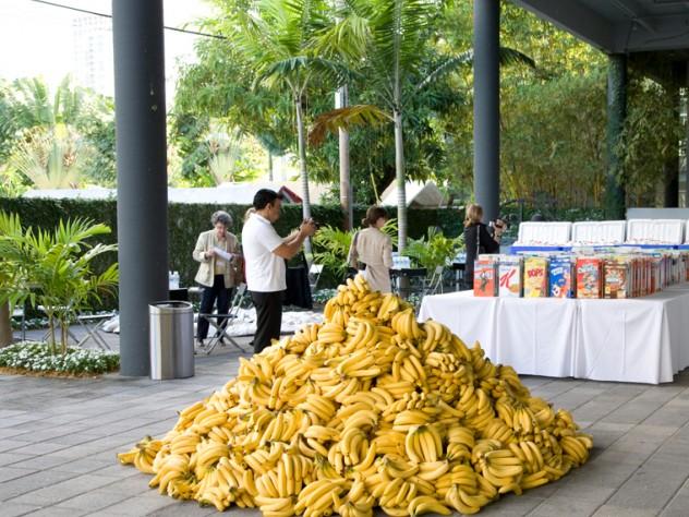 A pile of bananas at <i>American Morning</i>