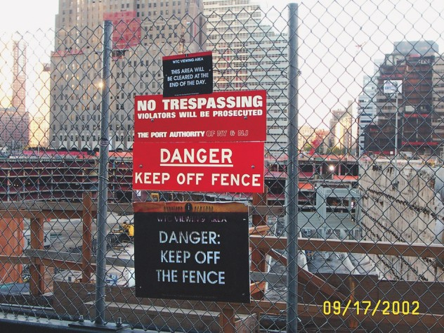 The Port Authority cleared the site of homemade memorials in 2002 and barred future ones.