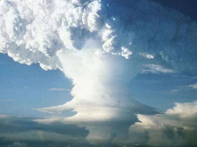 Mushroom cloud from U.S. nuclear test, Eniwetok Atoll, Marshall Islands, 1951