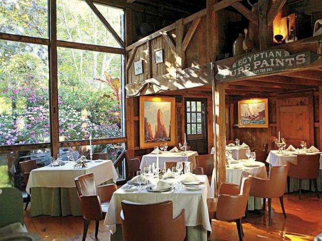 Dining room at The White Barn Inn