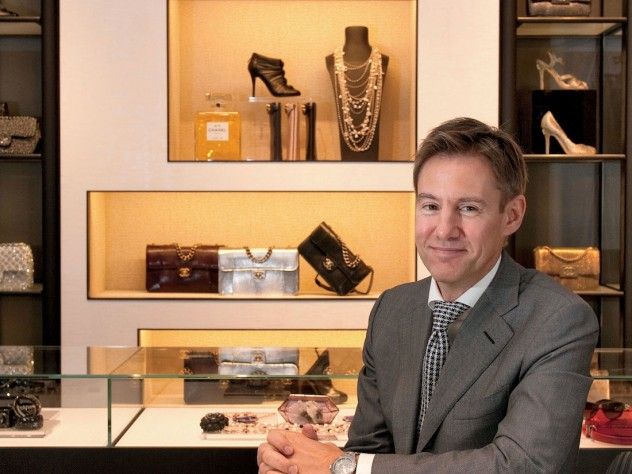 John Galantic, president of Chanel's American operations, at the Chanel boutique on Madison Avenue in New York City