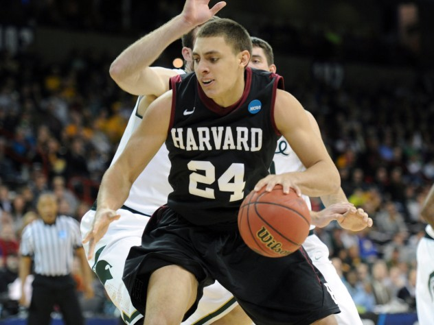 Jonah Travis '15 averaged 11 points per game in Harvard's weekend sweep of Princeton and Penn.