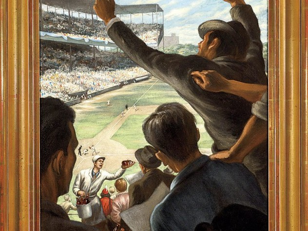 Edward Laning's <i>Saturday Afternoon at Sportsman's Park</i> (c. 1944)
