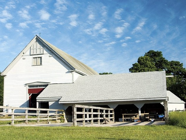 The farm's newly renovated barn