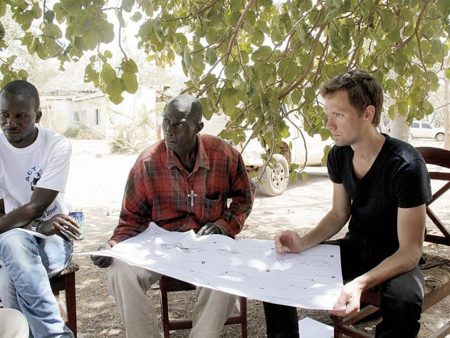 Jordan MacTavish, M.Arch. '12, worked with local leaders on plans for the Sinthian Cultural Center in Senegal.